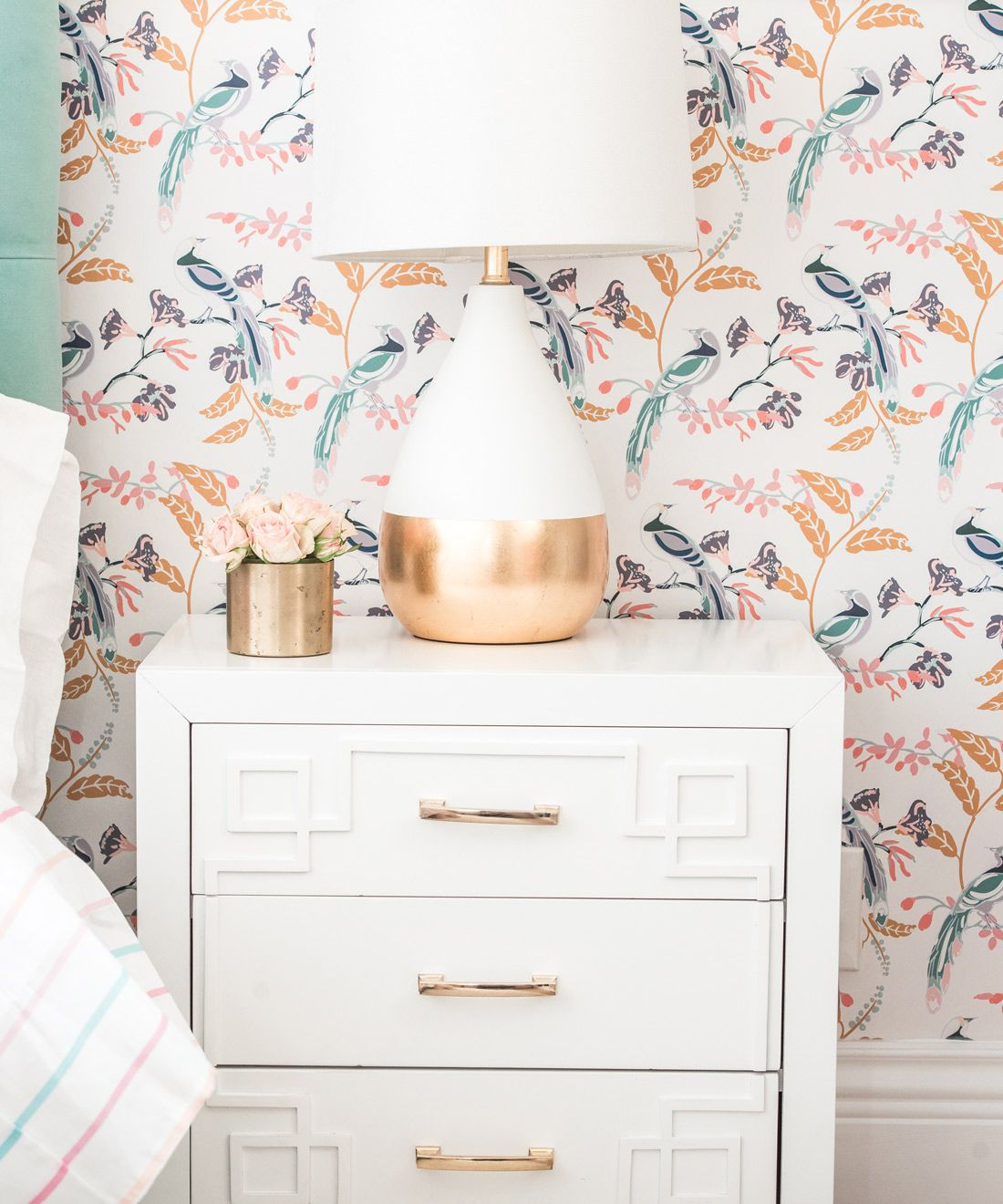 Birds Of Paradise • Tropical Wallpaper • Home Office Makeover • At Home With Ashley Wilson