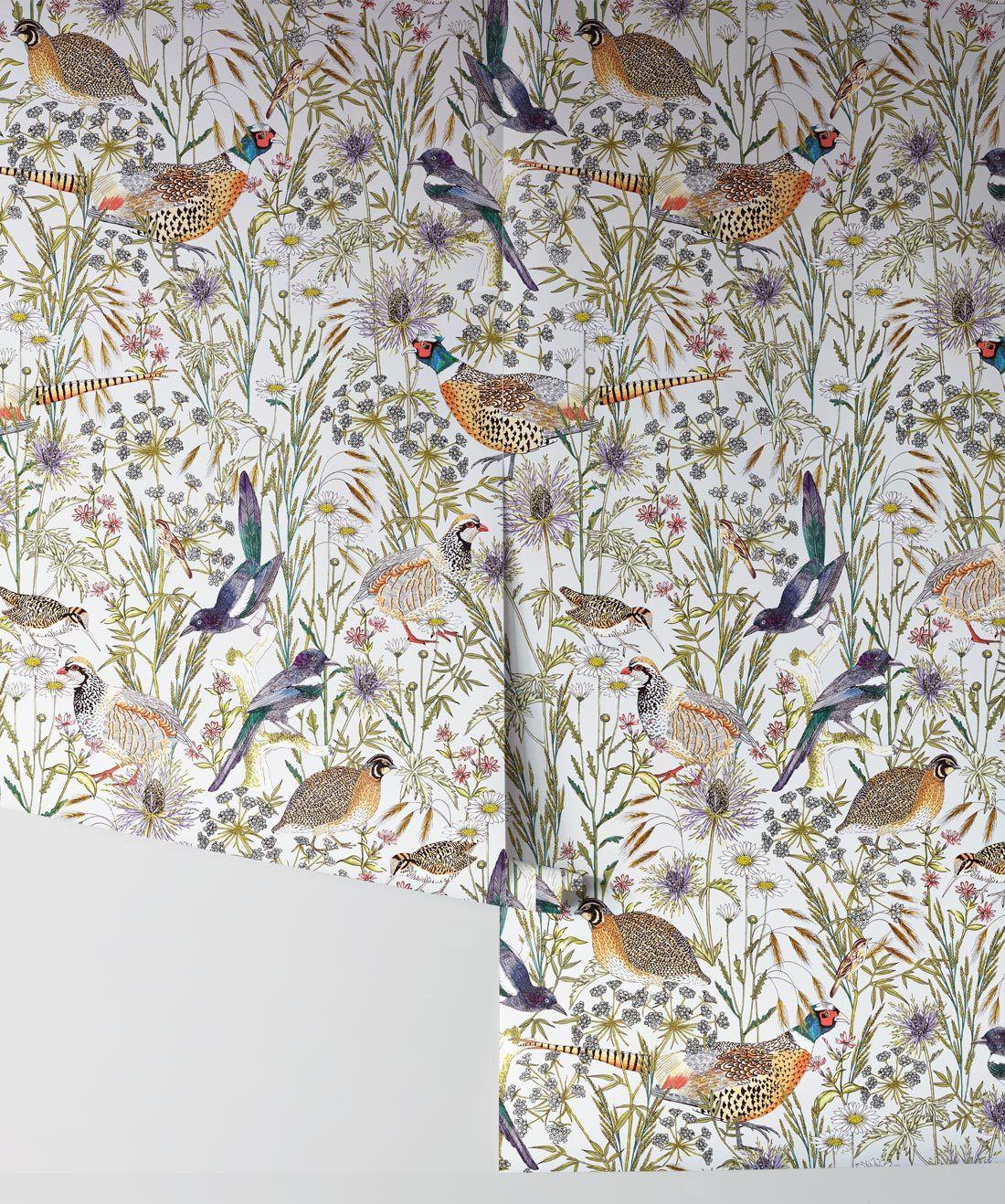 Woodland Birds Wallpaper •Milton & King UK