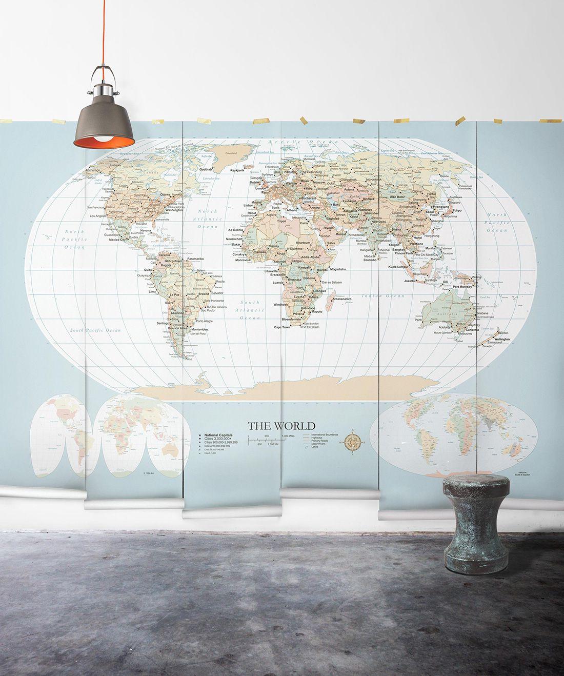 World Map Mural