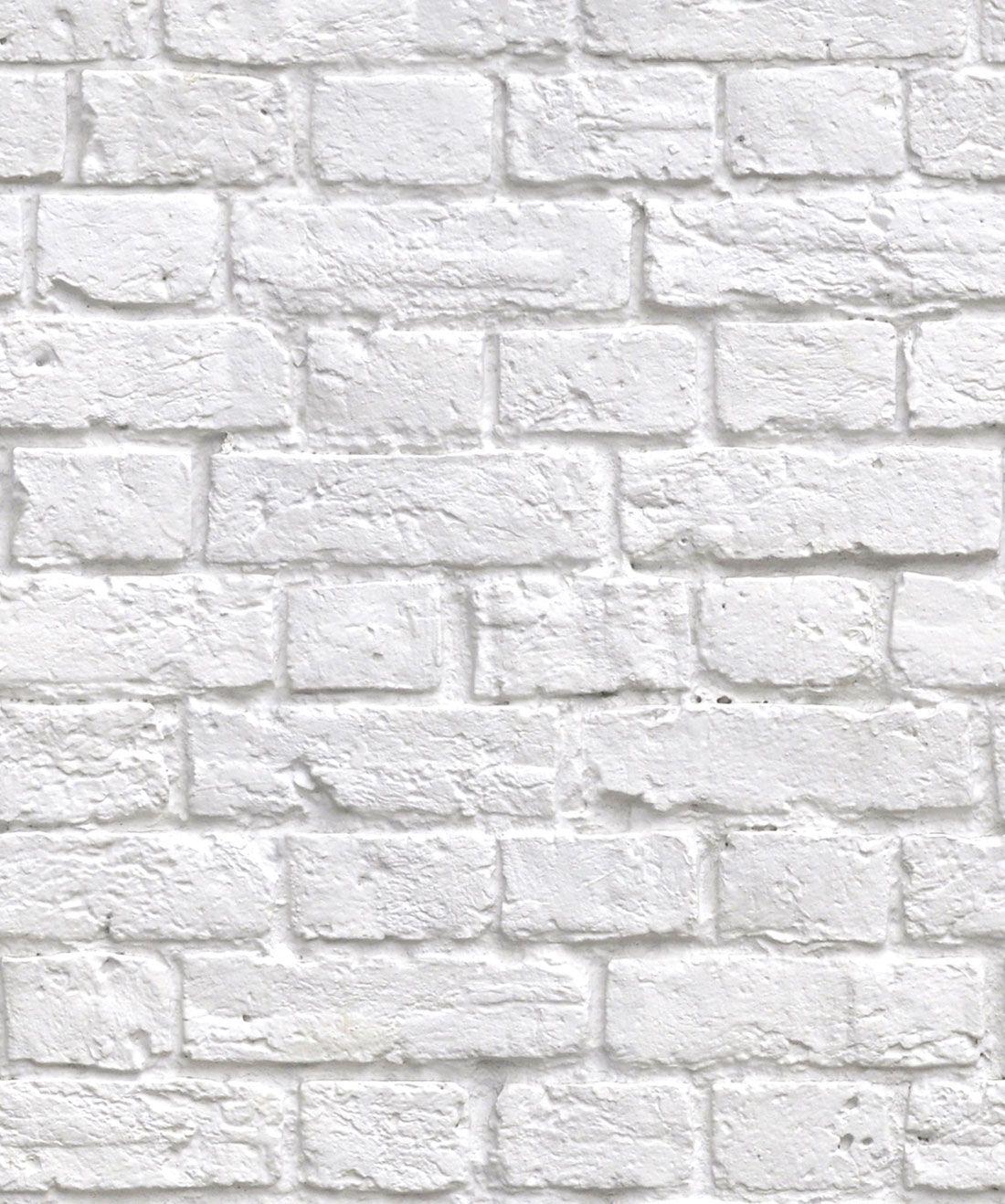 Soft White Bricks Wallpaper