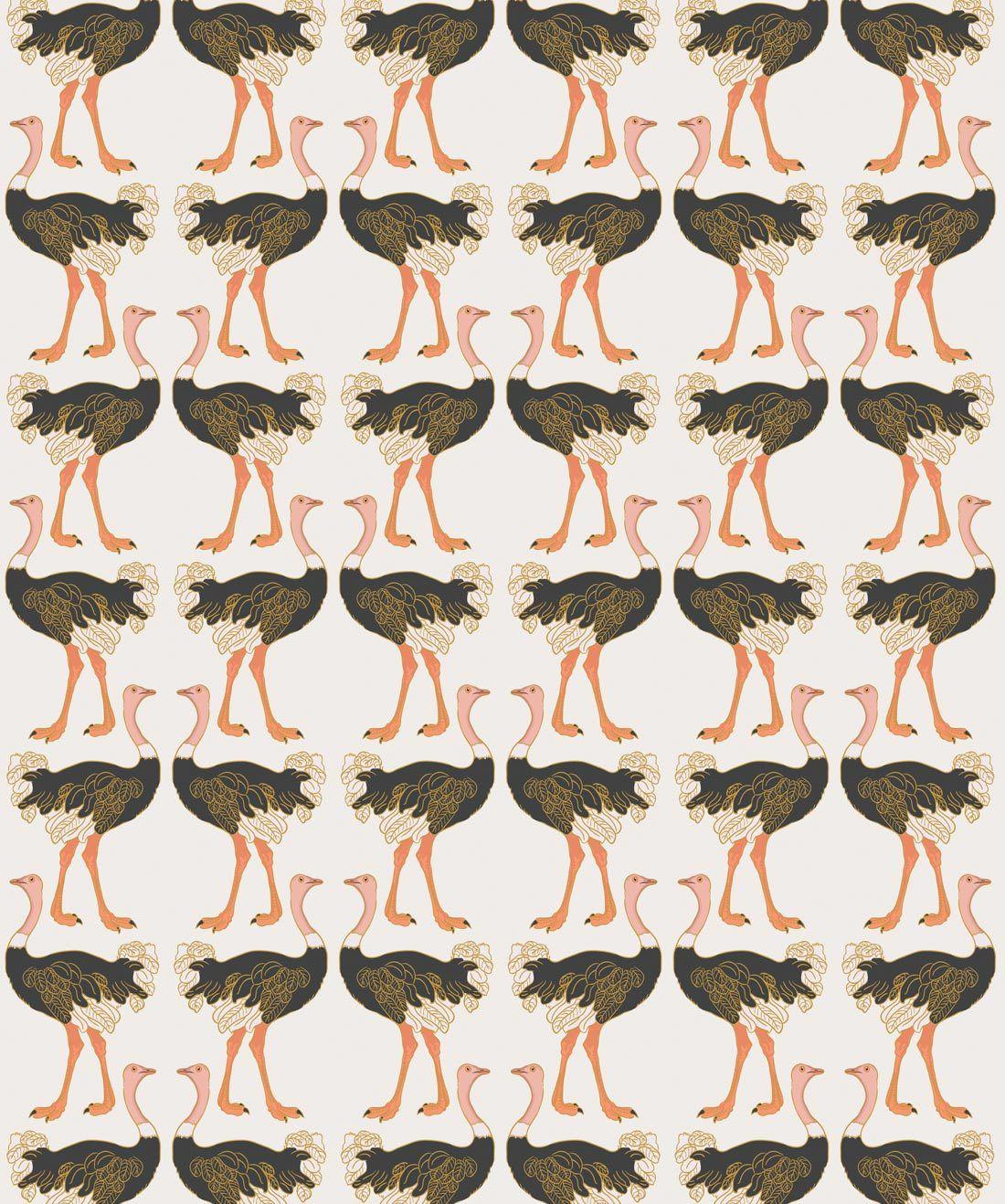 Ostrich Strut Wallpaper