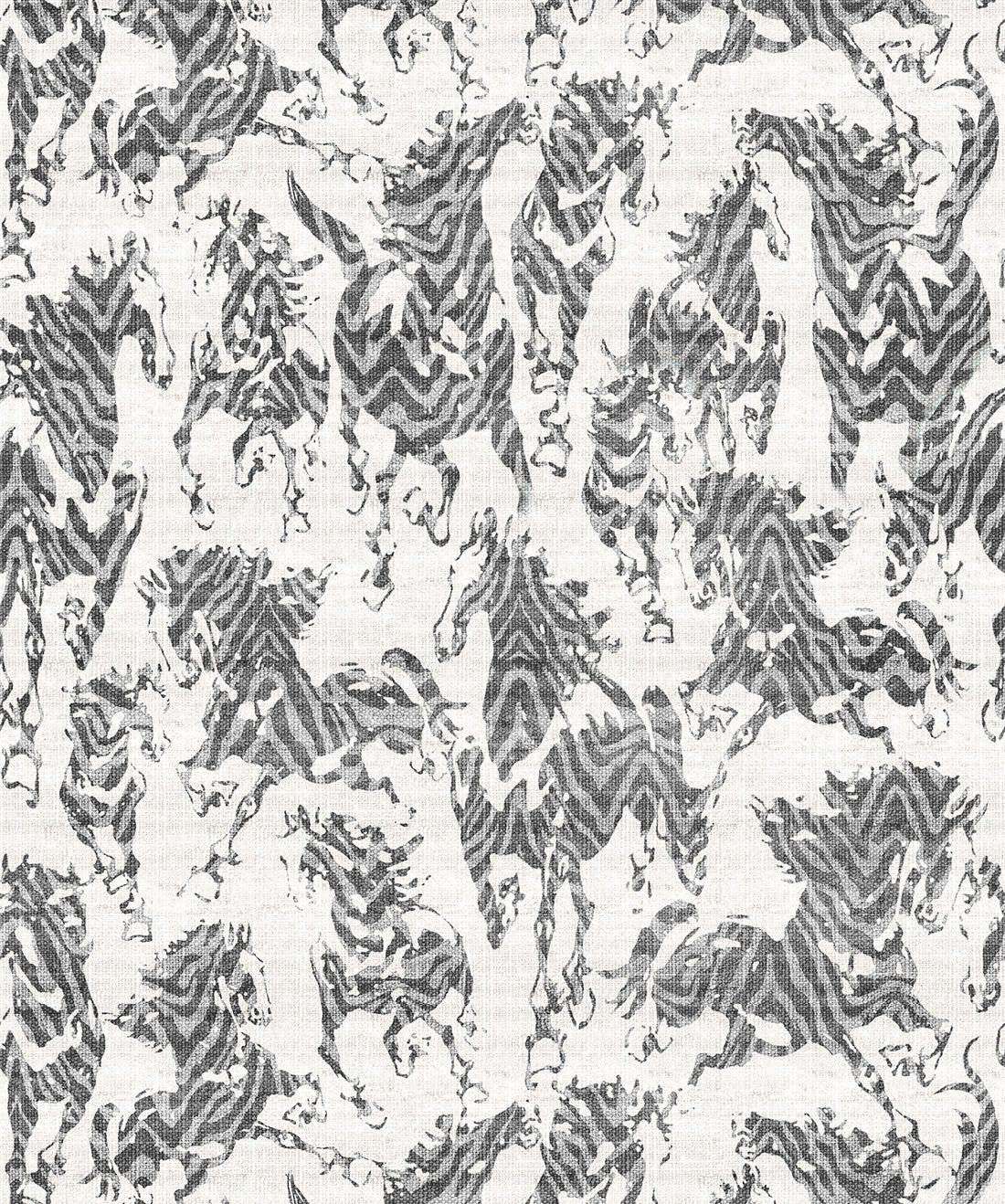 Sixhands - Stampeded Wallpaper Ash