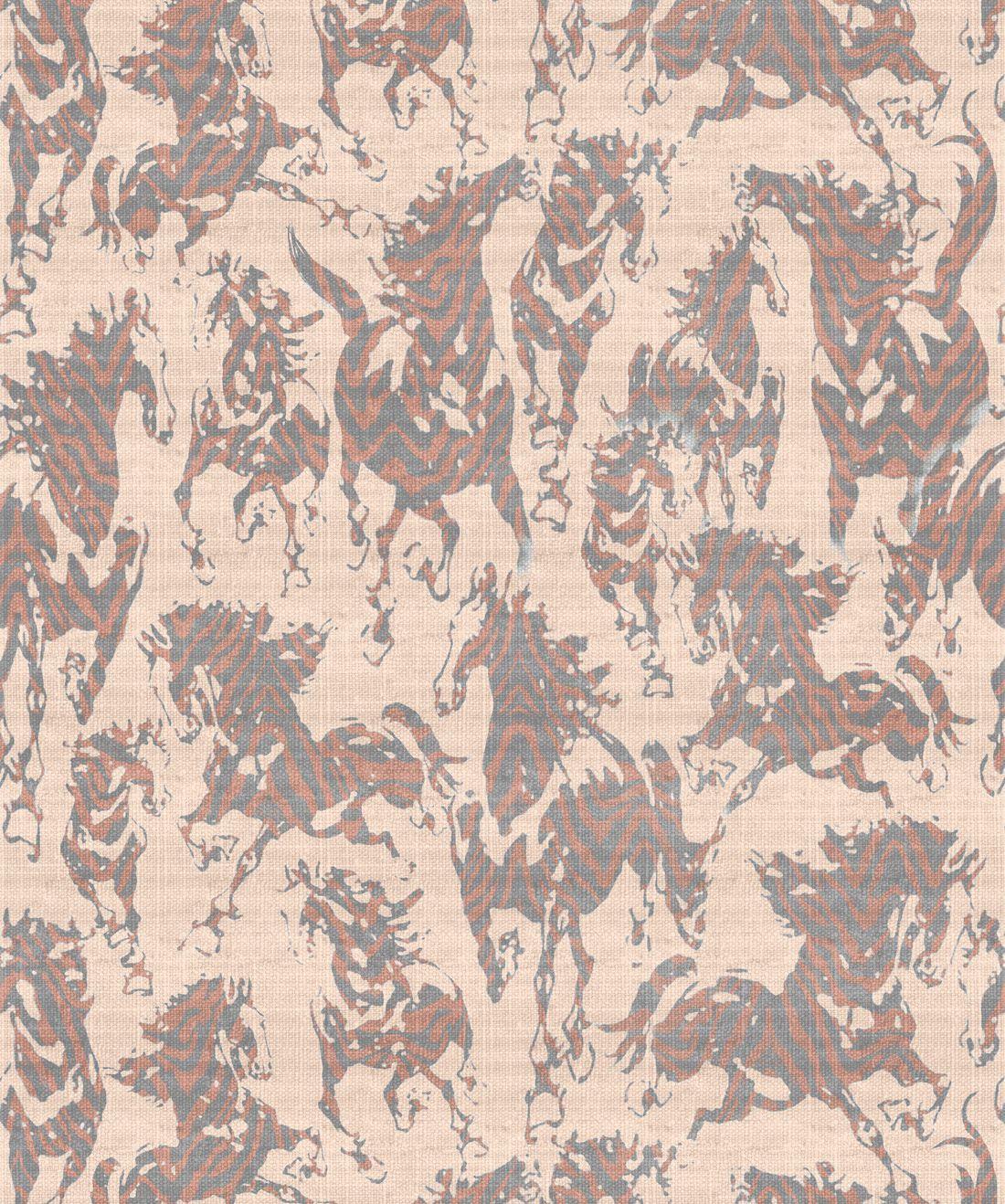 Sixhands - Stampede Wallpaper / Cognac