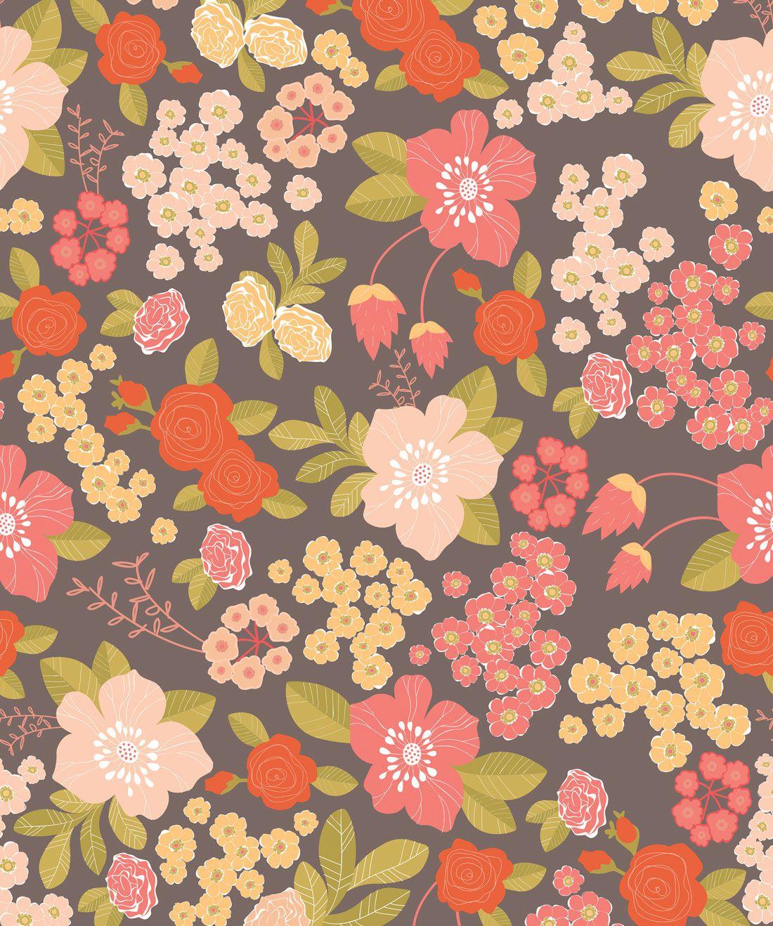 Stormy Bouquet Wallpaper