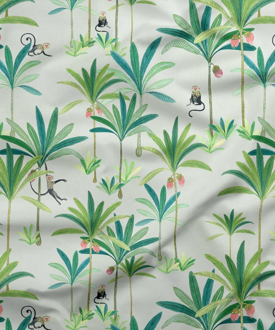 Monkey Palm Cream Fabric