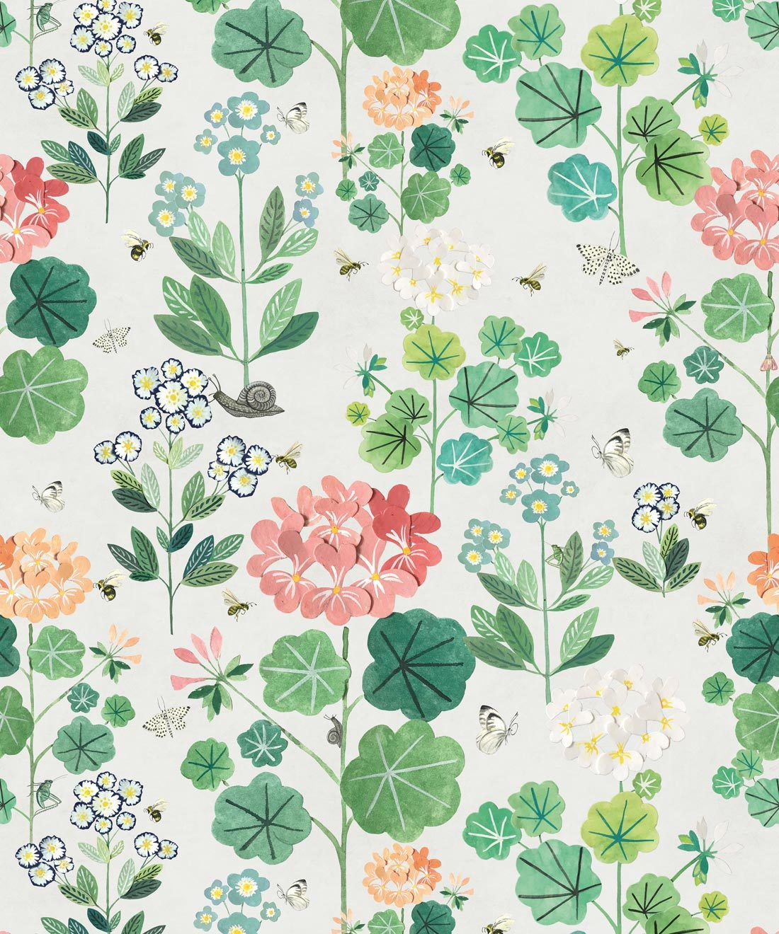 Sophies Garden Wallpaper Cream