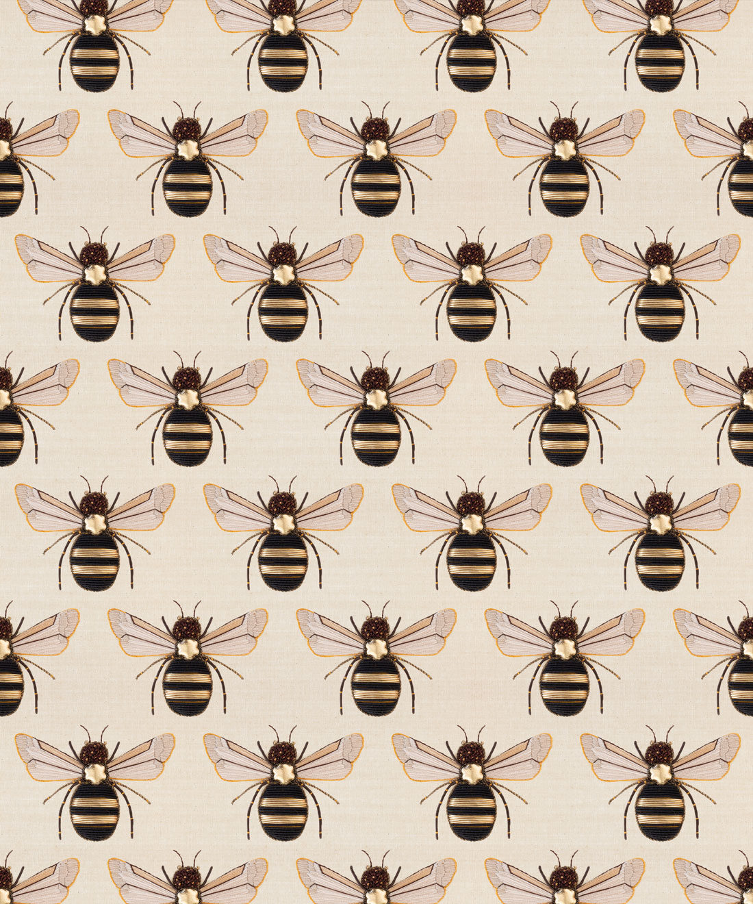 Golden Bee Embroidery