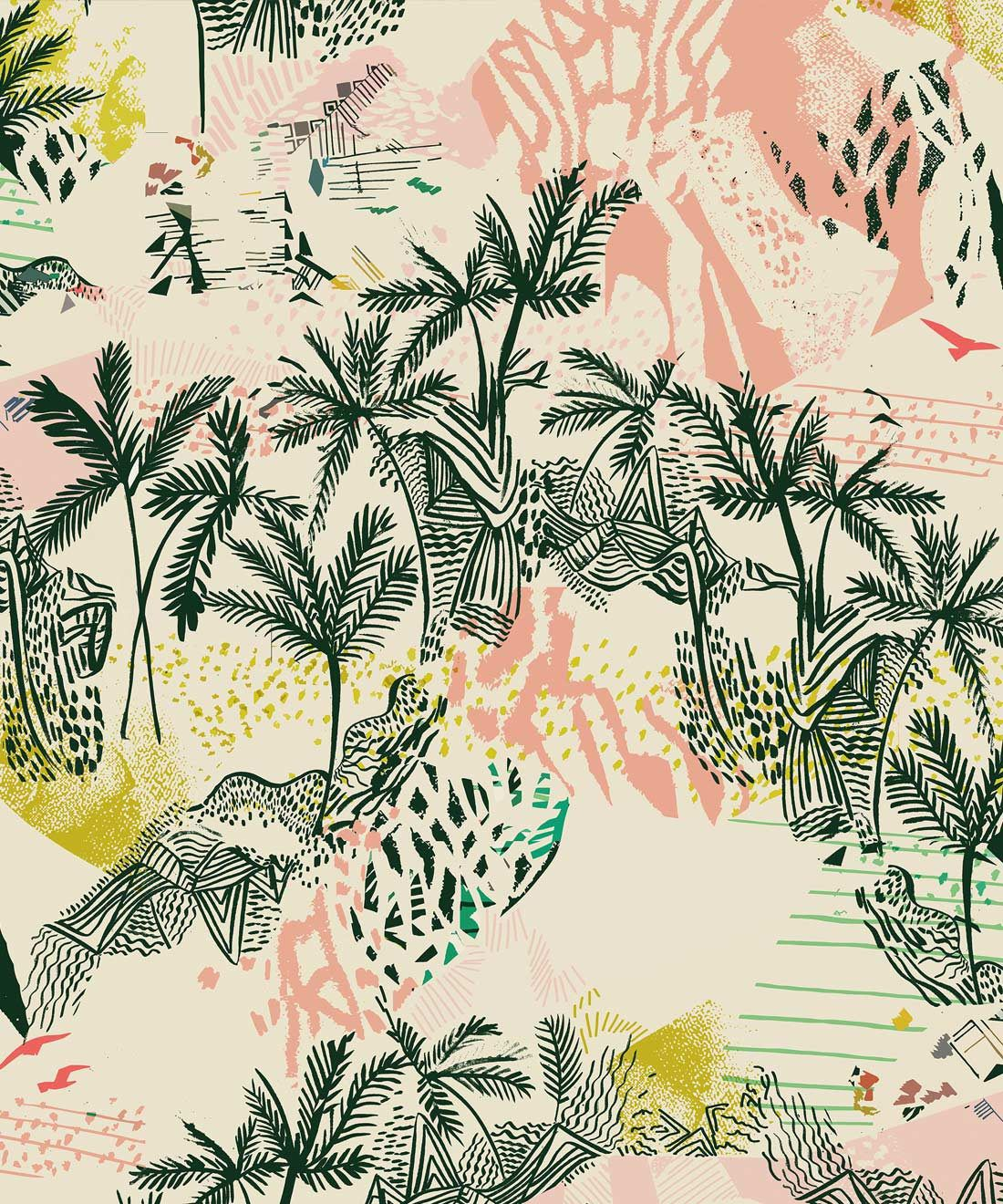 Queen Palm Wallpaper, Palm Trees by Kitty McCall, Milton & King, Australia
