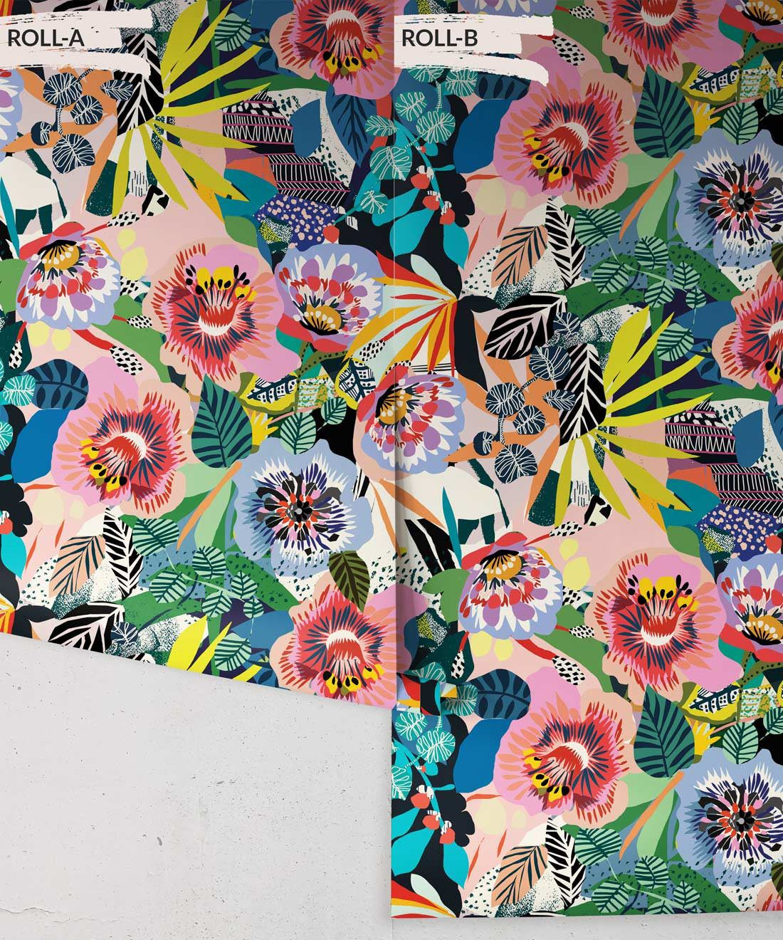 Summer Garden Colourful Floral Wallpaper by Kitty McCall, Milton & King Australia