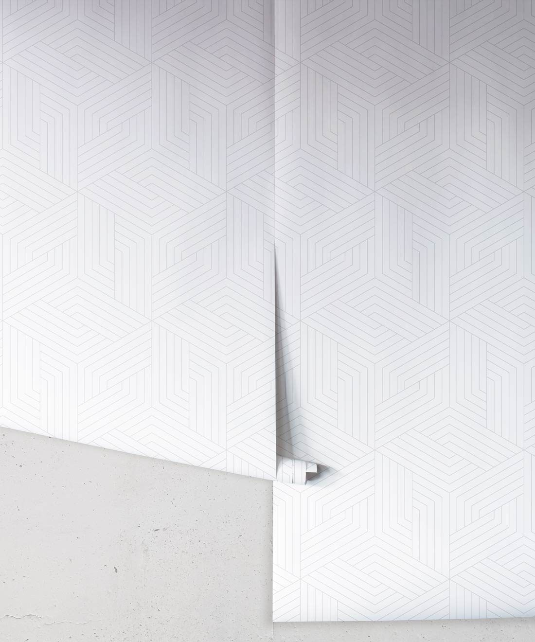 Faded Geometric Illusions Wallpaper • Geometric Wallpaper • Milton & King