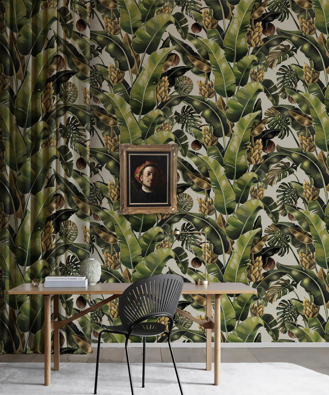 Kingdom Palm Del Rio • Tropical Leaf Wallpaper • Milton & King