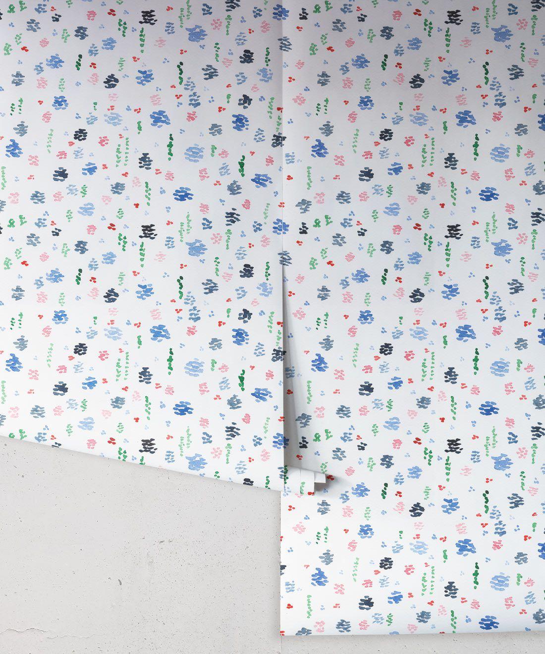 Spring Garden • Abstract Inky Floral Wallpaper • Georgia MacMillan • Kids Wallpaper • Nursery Wallpaper • Milton & King Australia