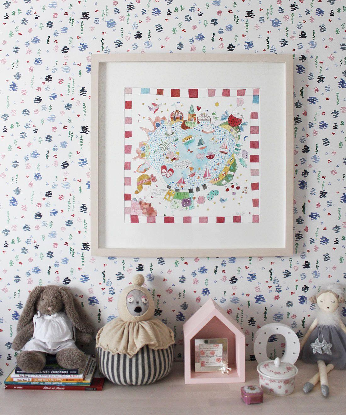 Spring Garden • Abstract Inky Floral Wallpaper • Georgia MacMillan