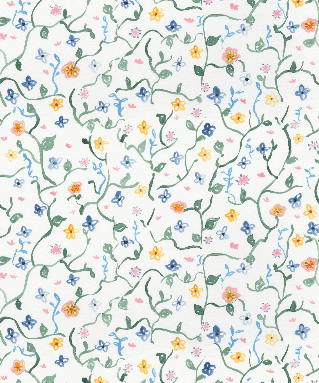 Wild Garden • Dainty Floral Wallpaper • Milton & King Australia •Georgia MacMillan