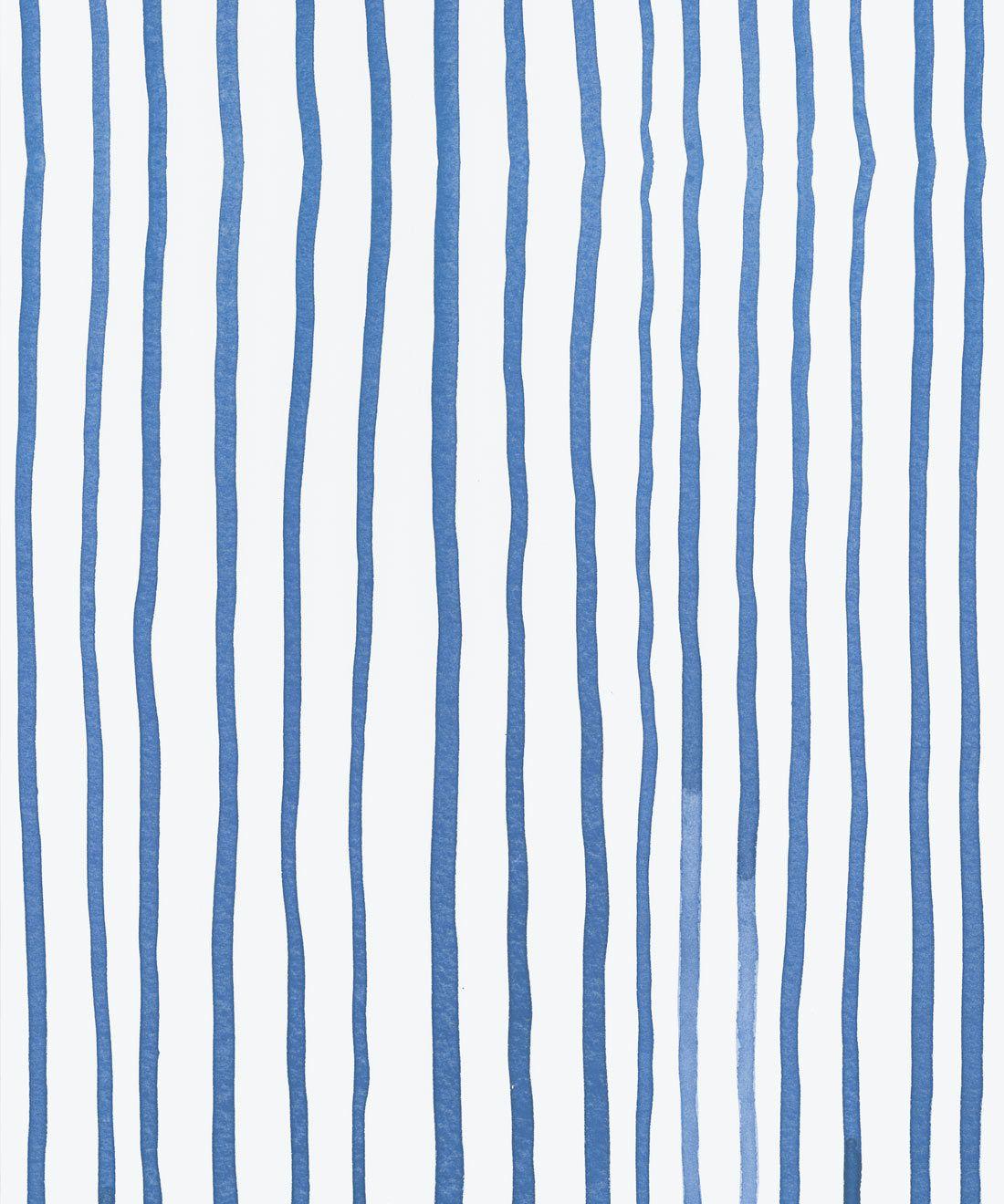 Zighy Stripes •Striped Wallpaper •Blue Stripes • Milton & King Australia • Georgia MacMillan