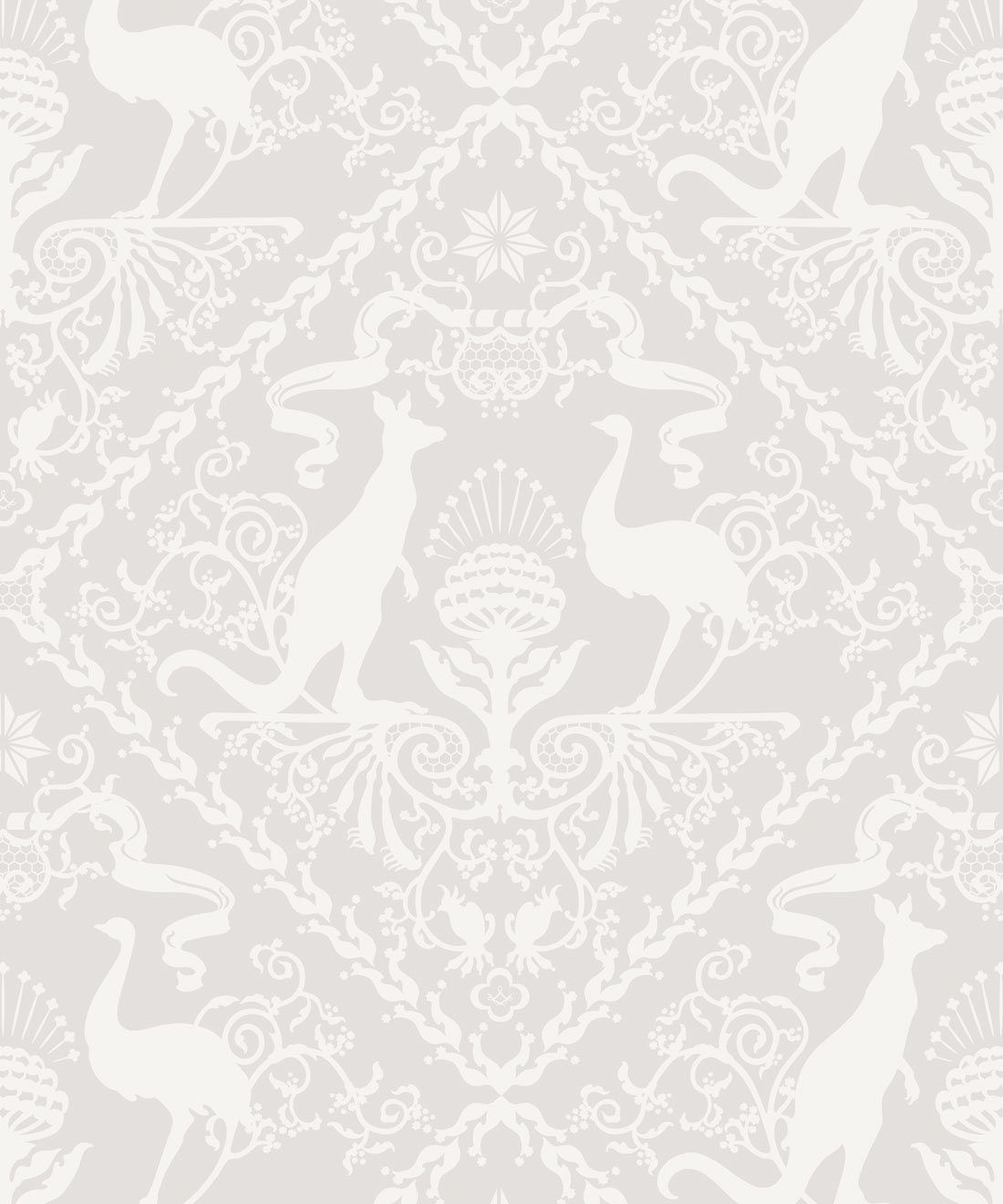 In Australia We Trust Bondi • Australian Wallpaper •Australian Coat of Arms • Milton & King Australia •Grey Wallpaper
