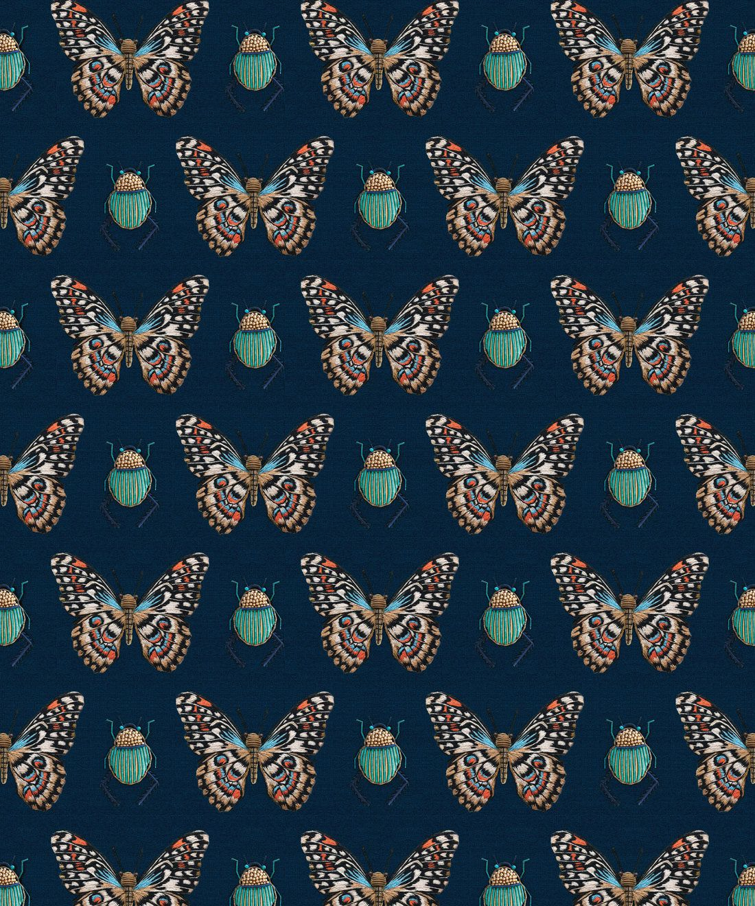 Bug & Butterfly Wallpaper • Milton & King Australia • Swatch