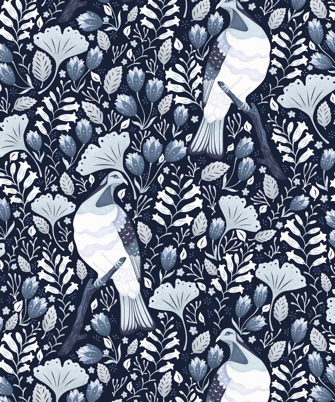 Kereru Wallpaper • Wood Pigeon• Bird Wallpaper • Ice Blue Wallpaper