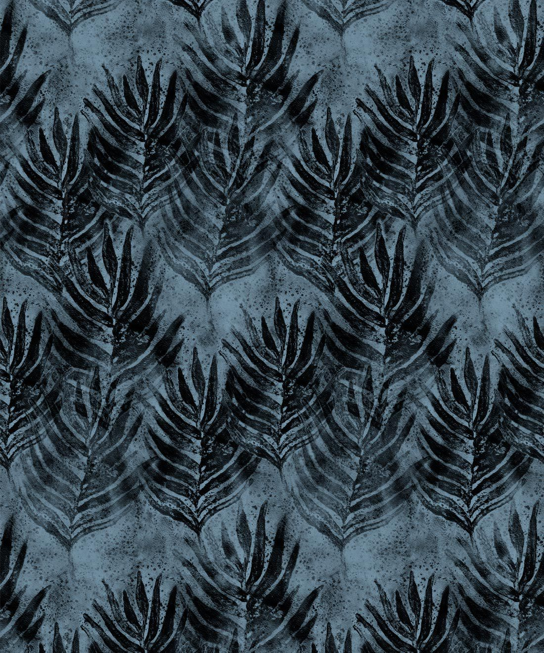 Evening Silhouette Shibori Leaf Wallpaper