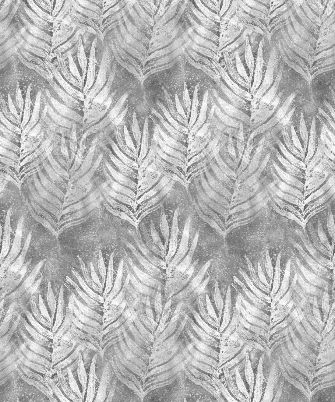 Silver Grey Shibori Leaf Wallpaper