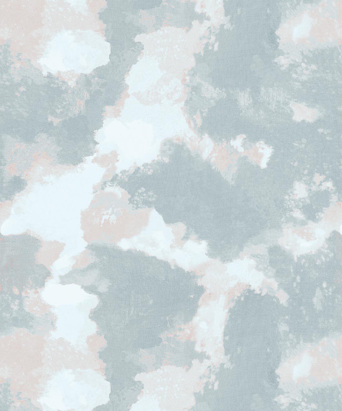 Autumn Path Wallpaper Sage • Shibori Abstract • Swatch