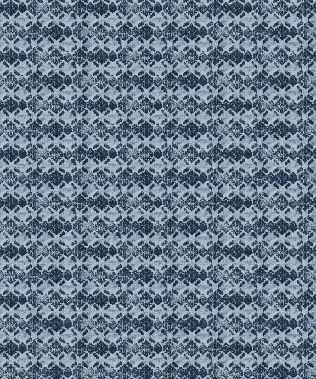 Indigo Blue Ikat Wallpaper • Shibori