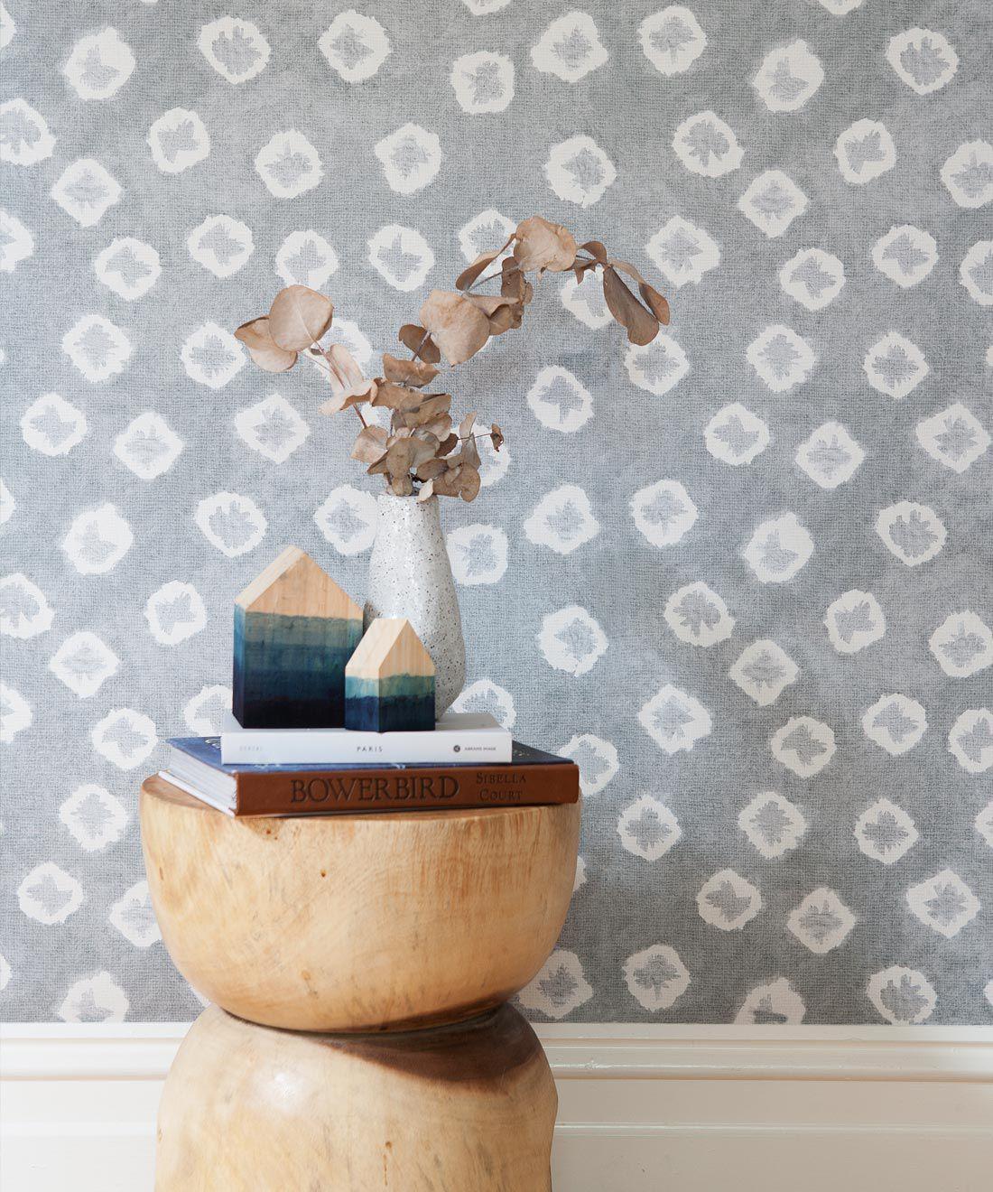 Grey Kanoko Wallpaper • Shibori