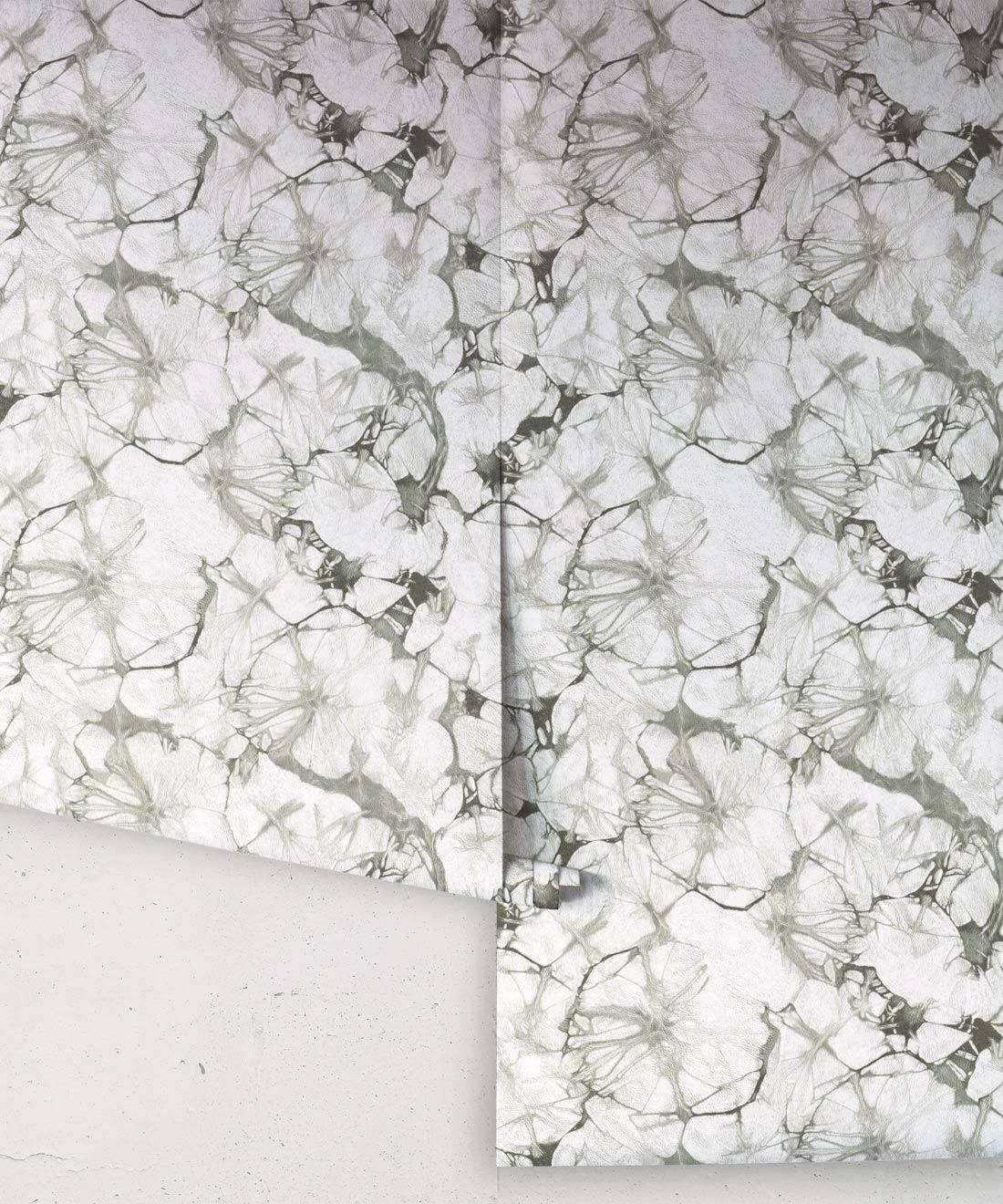 Silver Blue Poppy Wallpaper • Shibori