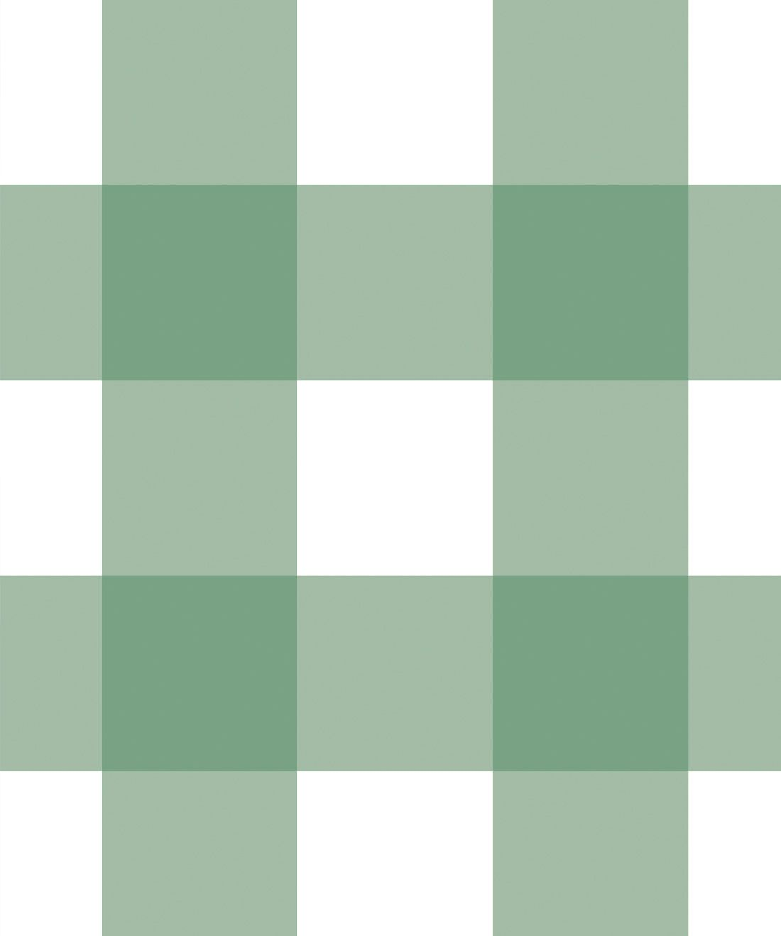 Mel's Buffalo Check Wallpaper • Green Plaid Wallpaper Swatch