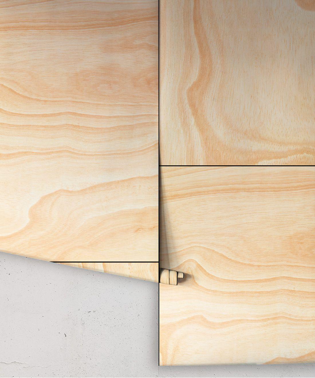 Ply Wood Wallpaper • Light Brown Wallpaper •Wood Grain Wallpaper rolls