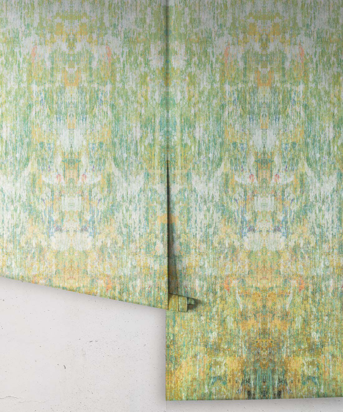 Patina Wallpaper by Simcox • Color Moss • Abstract Wallpaper • rolls