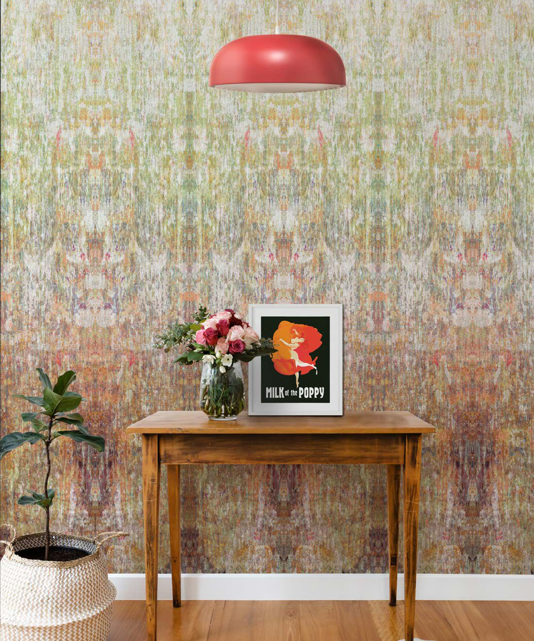 Patina Wallpaper by Simcox • Color Earth • Abstract Wallpaper • Insitu