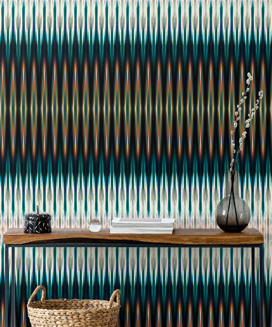 Ikat Wallpaper • Blue Wallpaper •Kitty McCall • Insitu