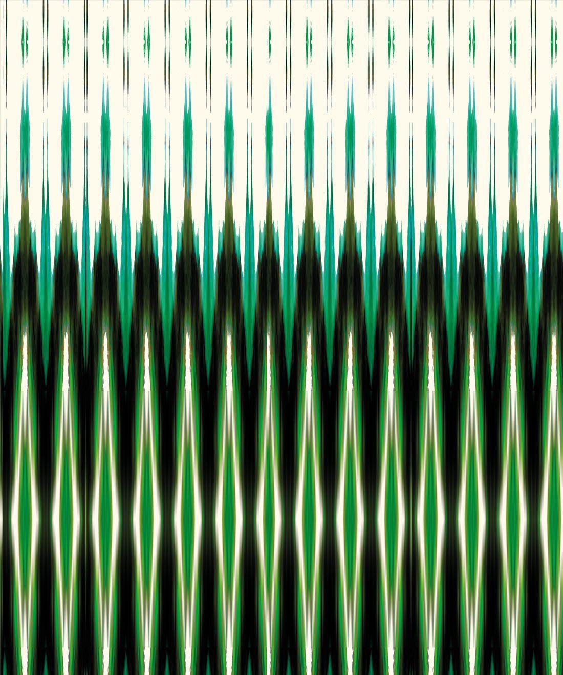 Ikat Wallpaper • Green Wallpaper •Kitty McCall • Swatch