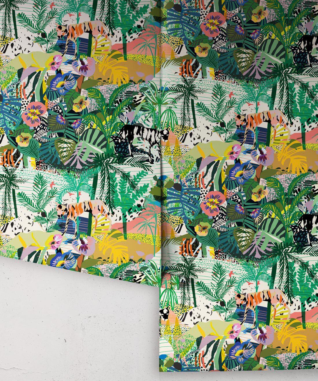 Utopia wallpaper • Colourful Tropical Wallpaper • Rolls