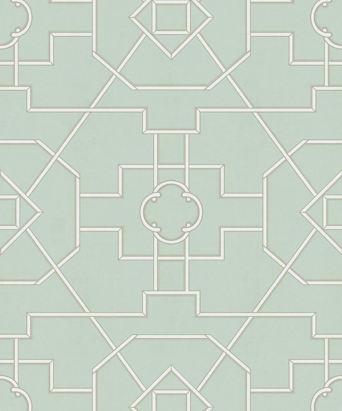 Trellis Wallpaper • Geometric Wallpaper • Mint Green Wallpaper • Swatch
