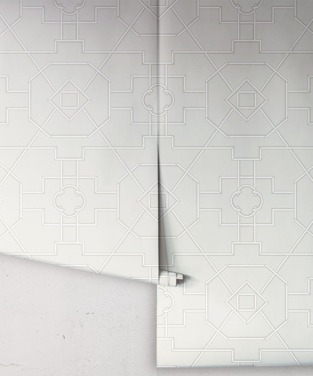 Trellis Wallpaper • Geometric Wallpaper • Beige Wallpaper • Rolls