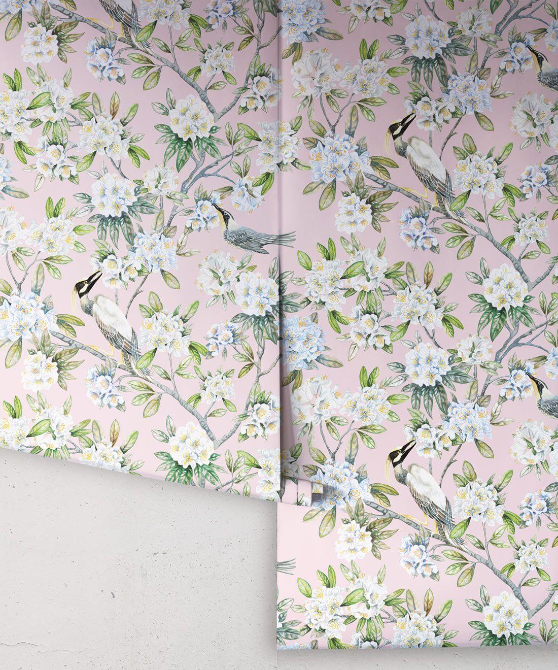 Victoria Wallpaper • Floral Wallpaper • Pink Wallpaper • Rolls