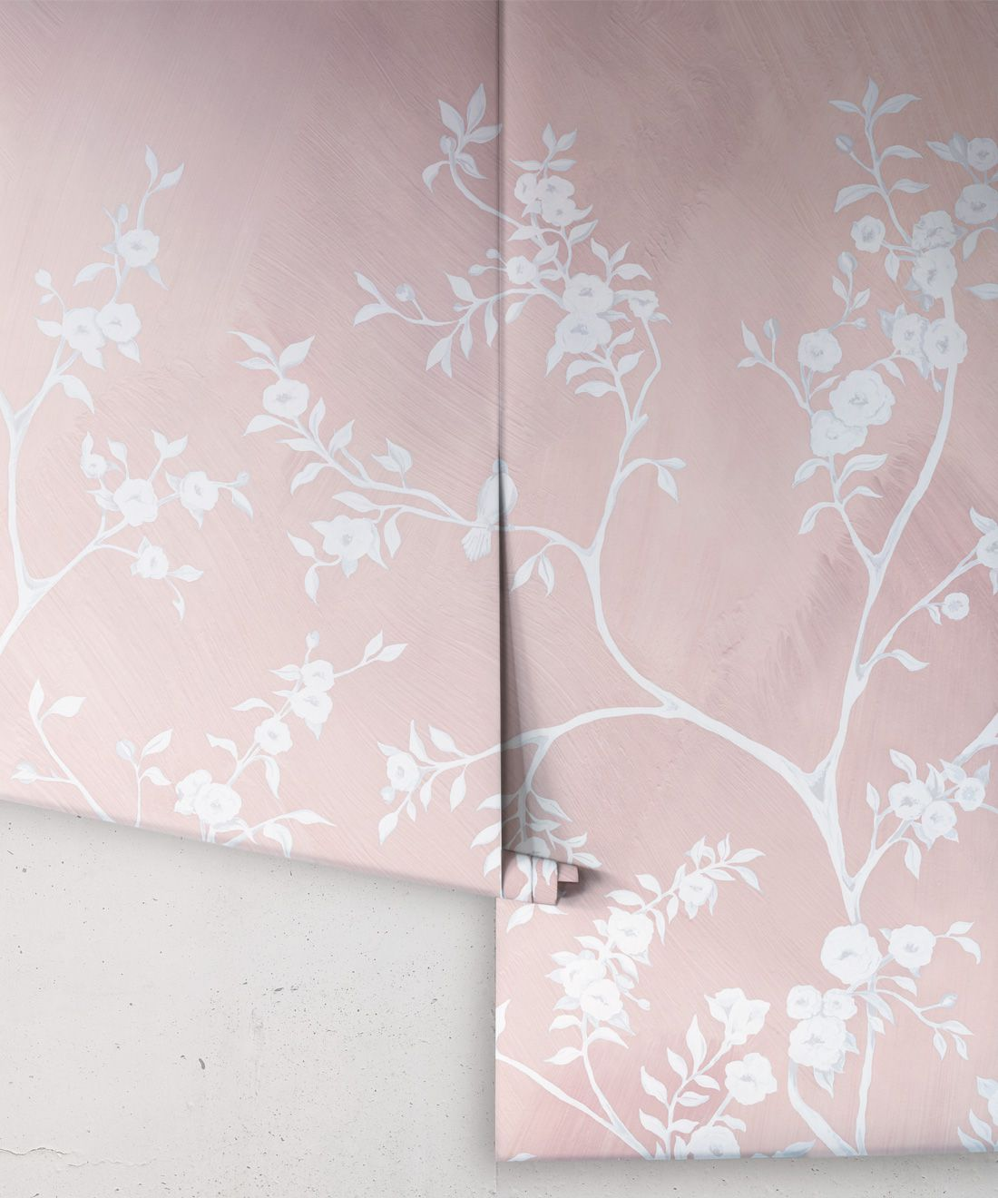 Blooming Joy • Chinoiserie Wallpaper by Danica Andler • Pink Blush Rolls