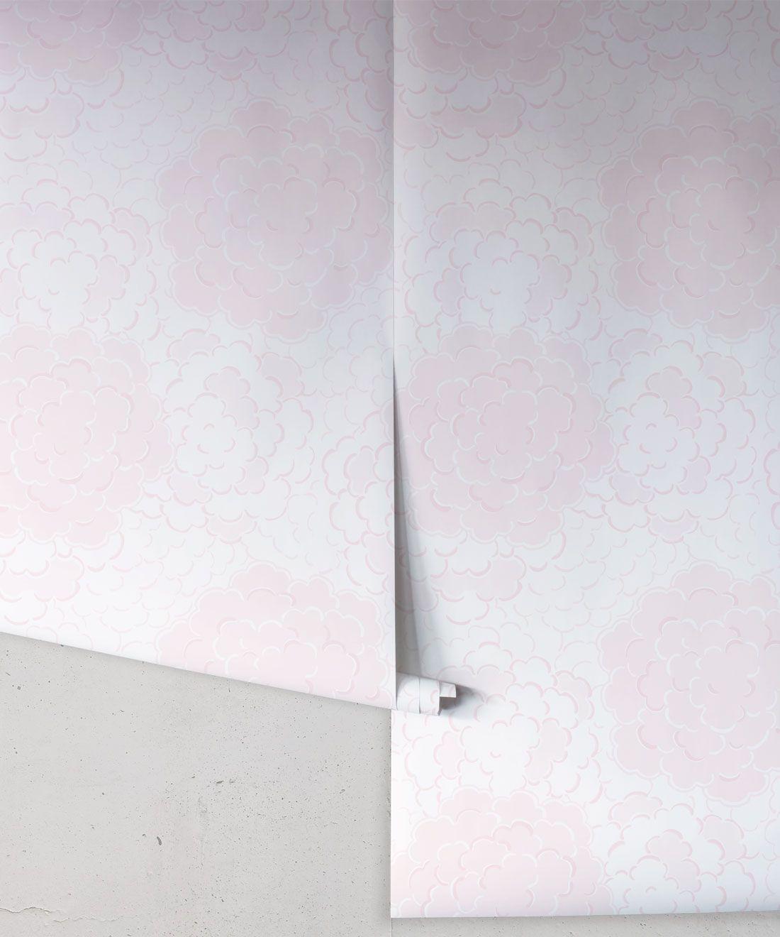Pink Peony Wallpaper • Pink Wallpaper • Nursery Wallpaper • Pink Pagoda • Wallpaper Rolls