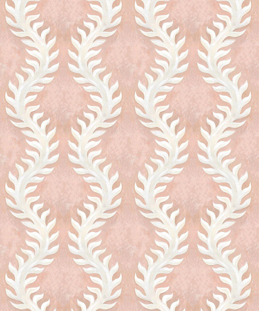 Fern Wallpaper • Pink Wallpaper •Swatch