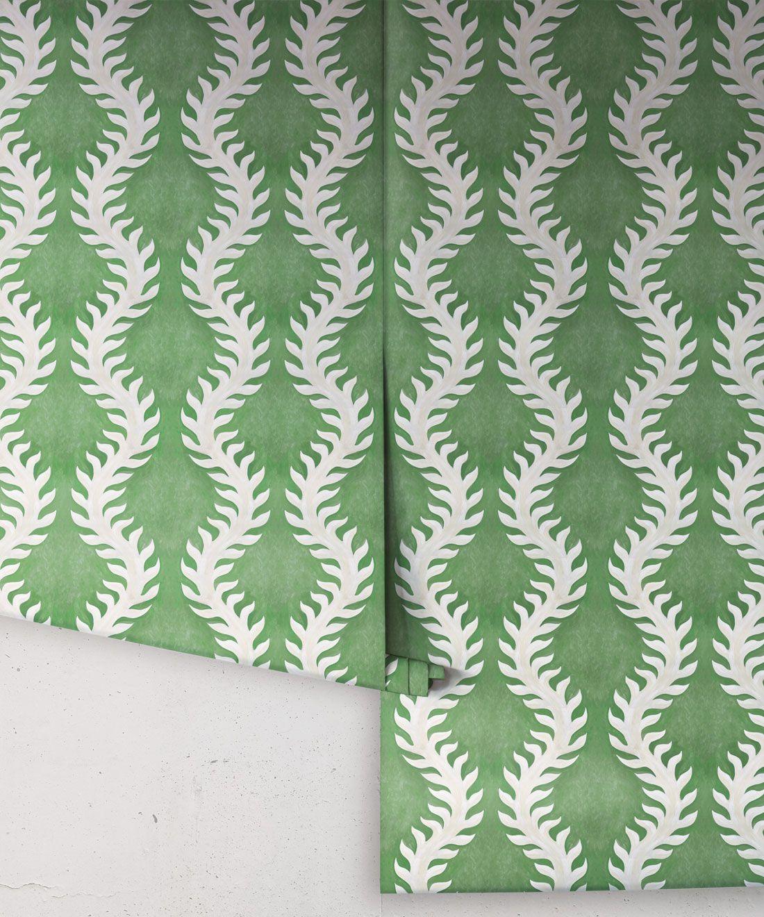 Fern Wallpaper • Green Wallpaper •Rolls