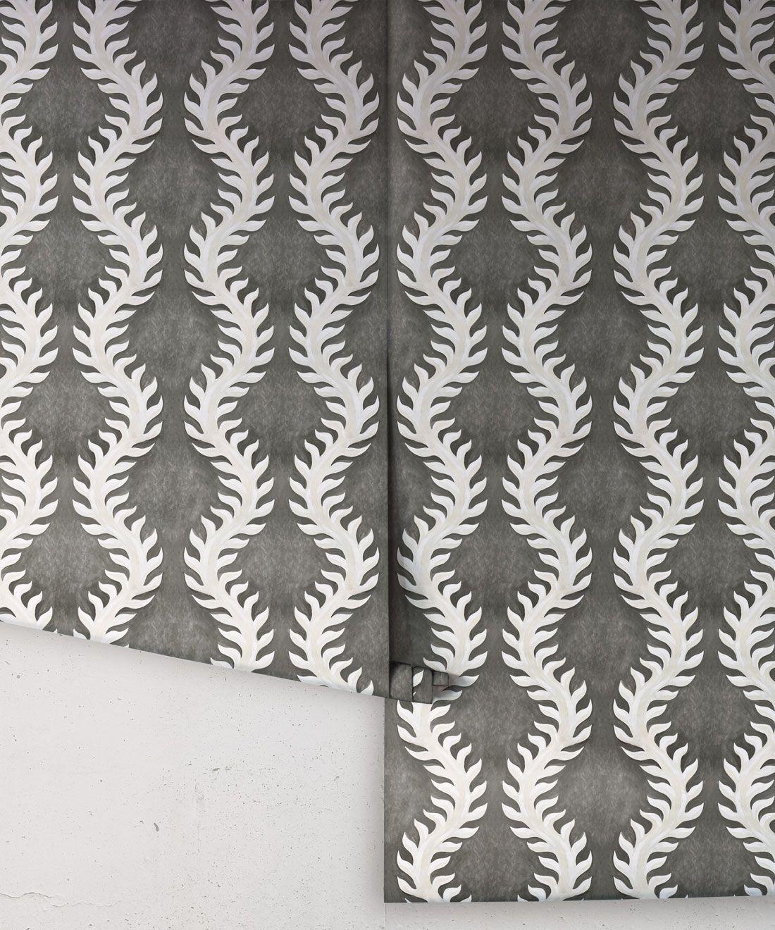 Fern Wallpaper • Gray Wallpaper •Rolls