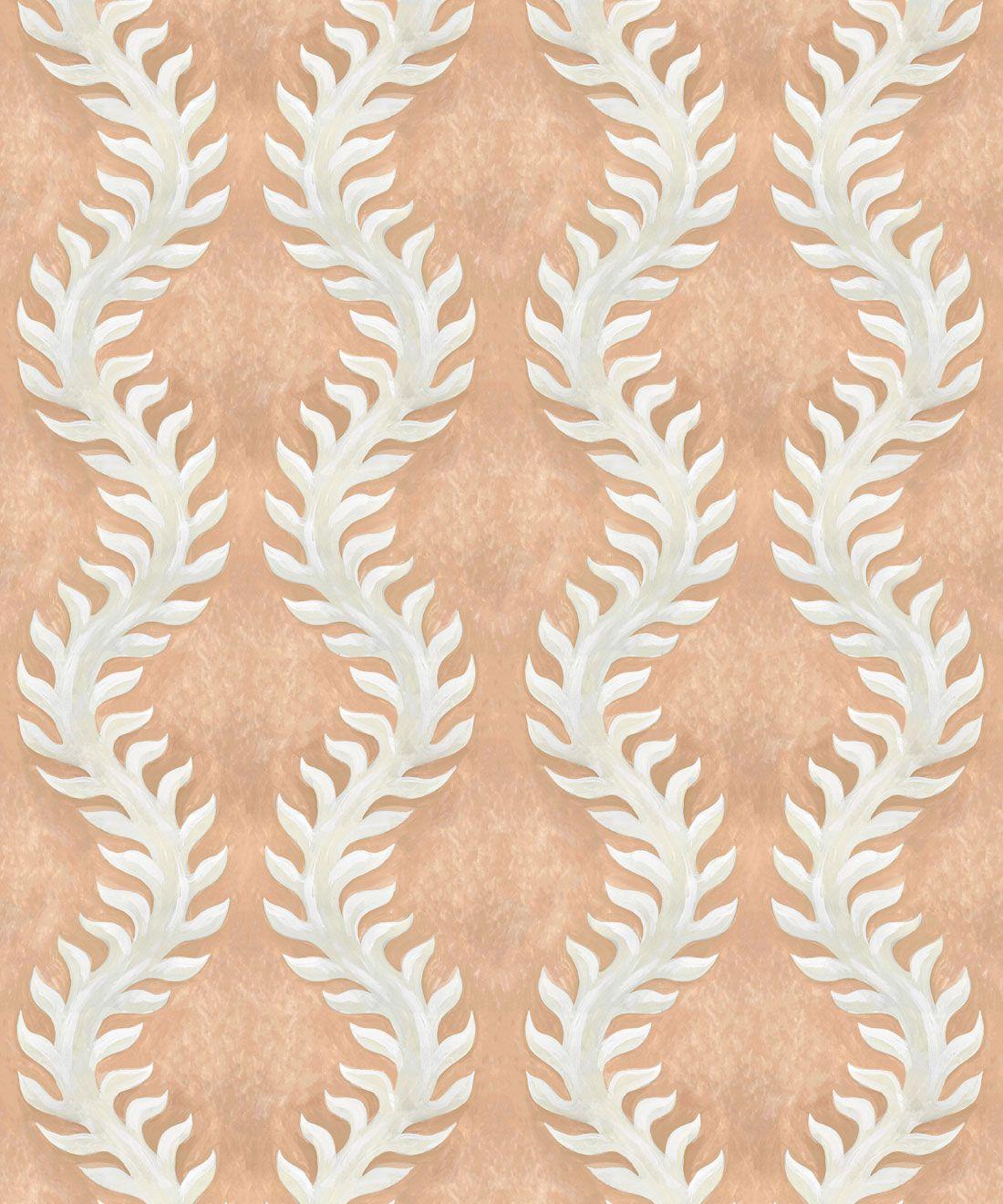 Fern Wallpaper • Salmon Wallpaper •Swatch
