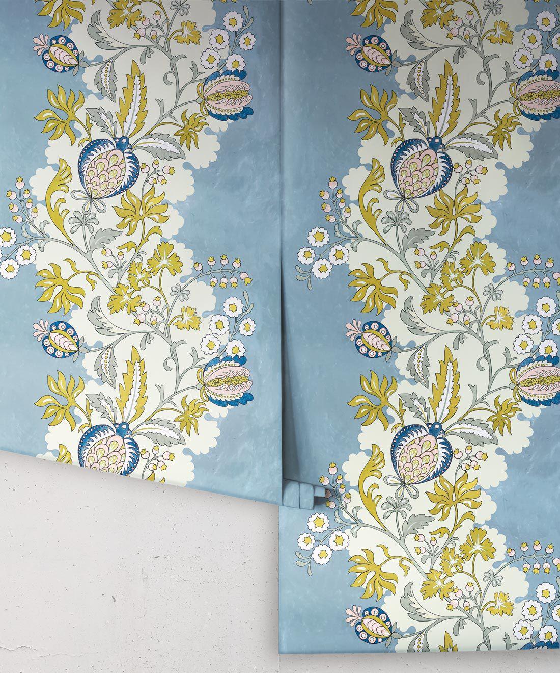 Pomegranate Wallpaper • French Blue • Rolls