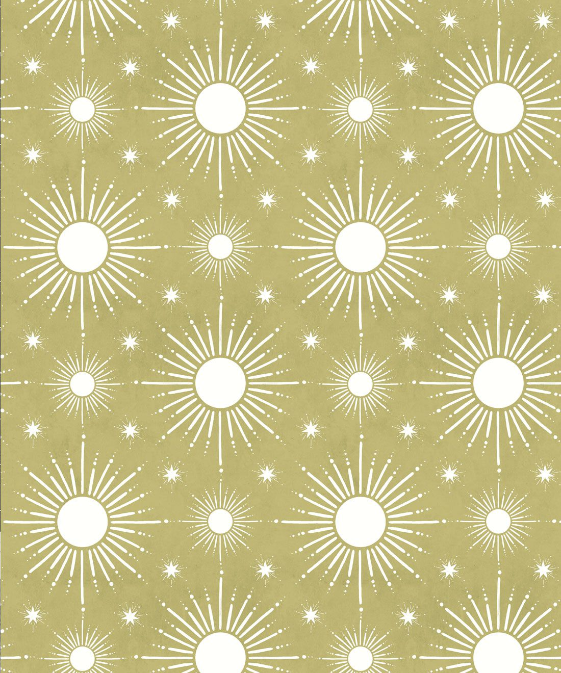 Sun Light Star Bright Wallpaper • Chartreuse • Swatch