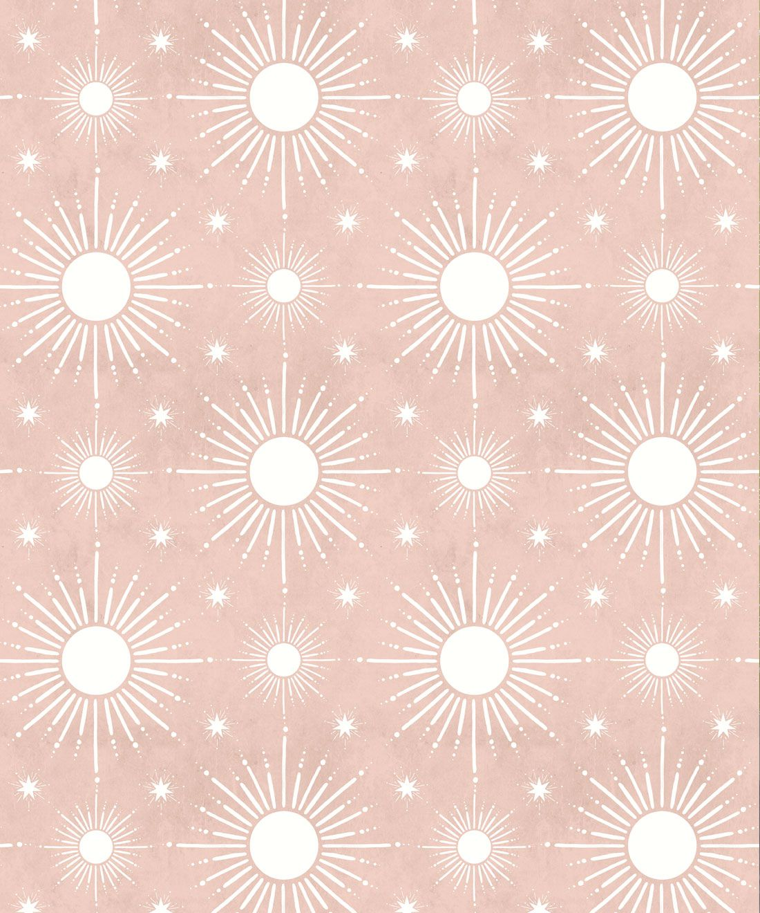 Sun Light Star Bright Wallpaper • Dusty Pink • Swatch
