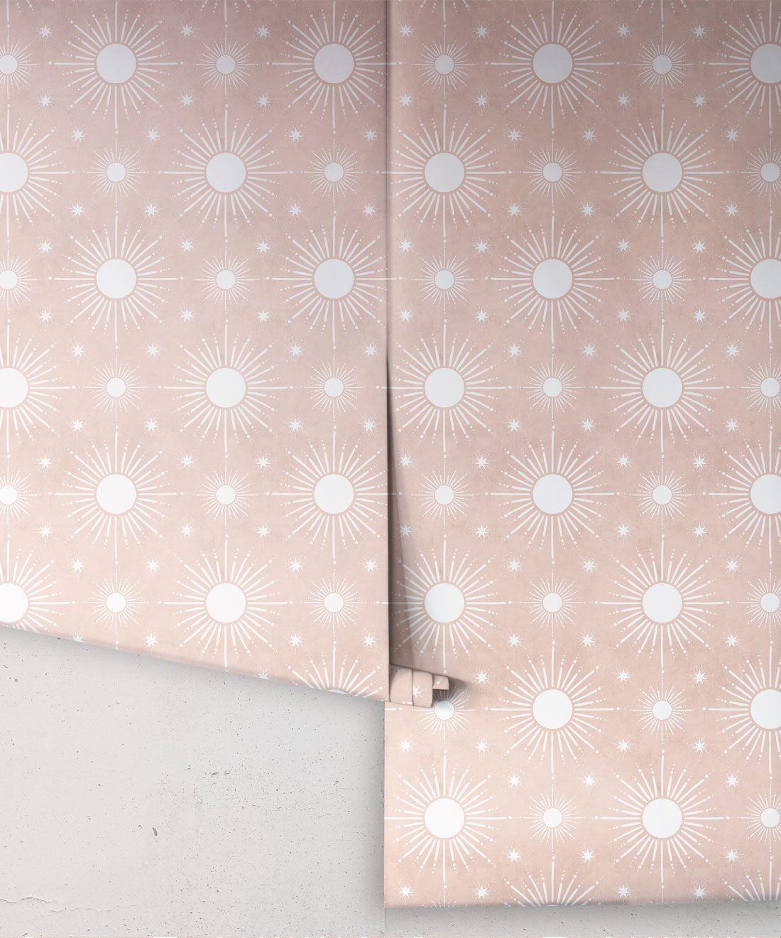 Sun Light Star Bright Wallpaper • Dusty Pink • Rolls