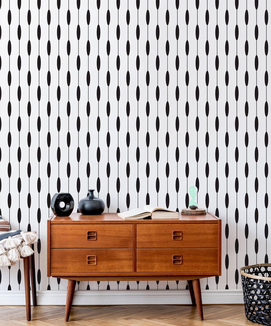 Bowline Wallpaper • Geometric Wallpaper • Striped Wallpaper • Black & White Wallpaper •Insitu