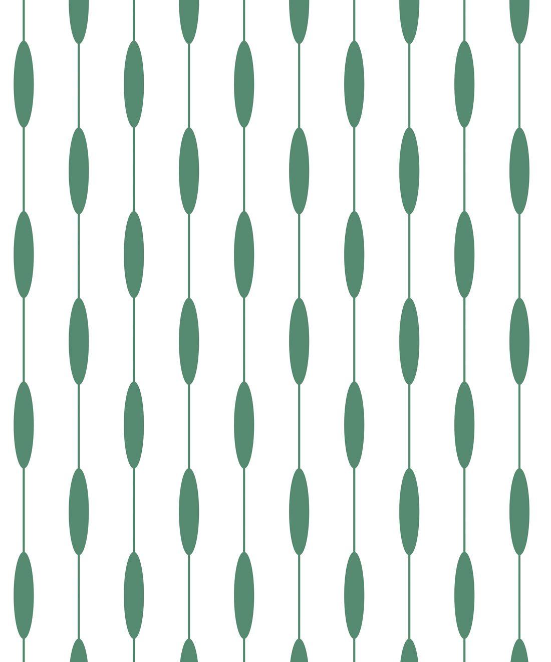 Bowline Wallpaper • Geometric Wallpaper • Striped Wallpaper • Green Wallpaper •Swatch